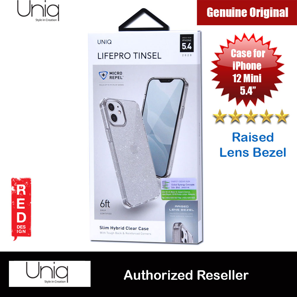 Picture of Uniq Lifepro Tinsel Slim Hybrid Clear Drop Protection Case Raised Lens Bezel Protection Case for iPhone 12 Mini 5.4 (Clear) Apple iPhone 12 mini 5.4- Apple iPhone 12 mini 5.4 Cases, Apple iPhone 12 mini 5.4 Covers, iPad Cases and a wide selection of Apple iPhone 12 mini 5.4 Accessories in Malaysia, Sabah, Sarawak and Singapore