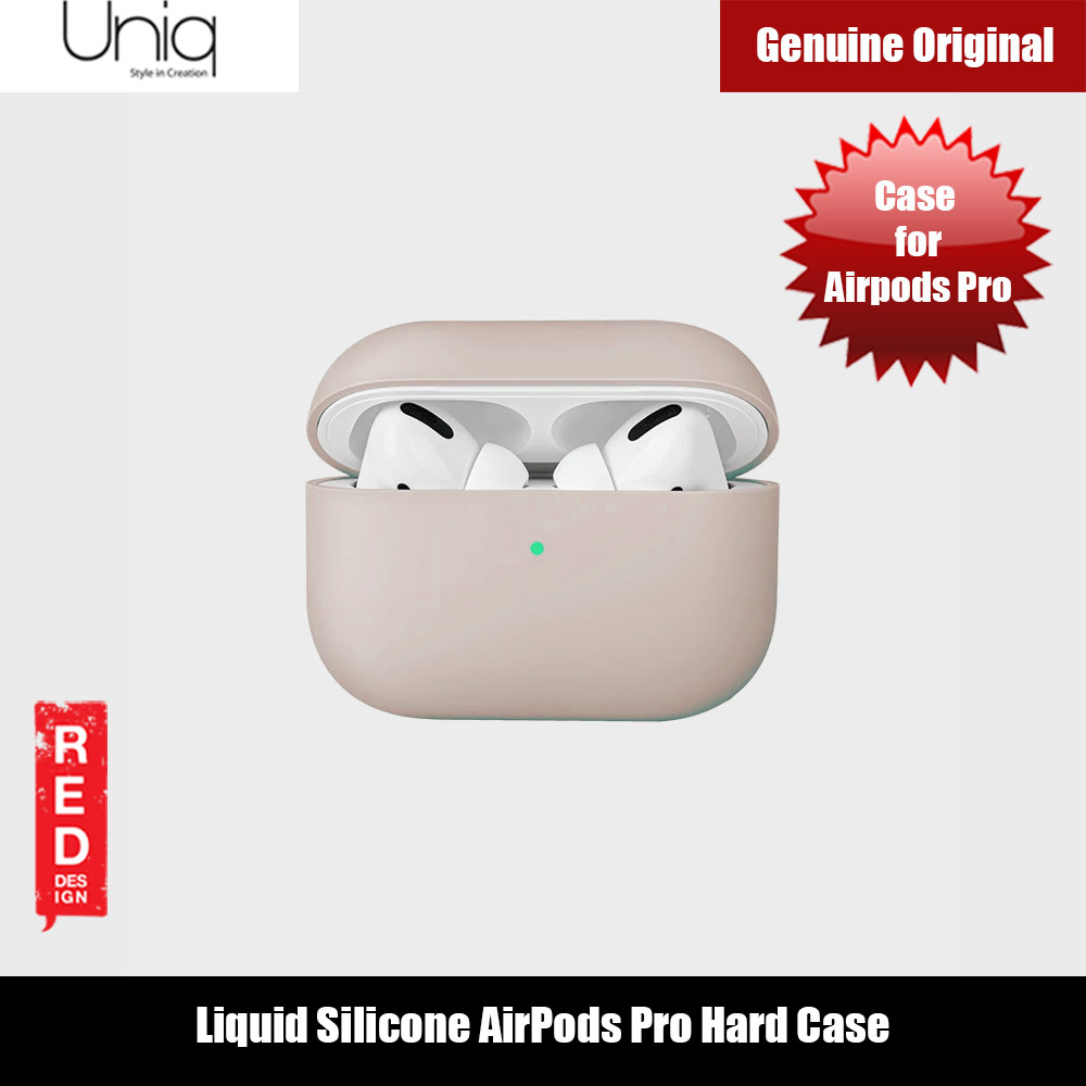 Picture of Uniq Lino Thin Drop Protection Liquid Silicone Hard Case for Airpods Pro (Beige) Apple Airpods Pro- Apple Airpods Pro Cases, Apple Airpods Pro Covers, iPad Cases and a wide selection of Apple Airpods Pro Accessories in Malaysia, Sabah, Sarawak and Singapore