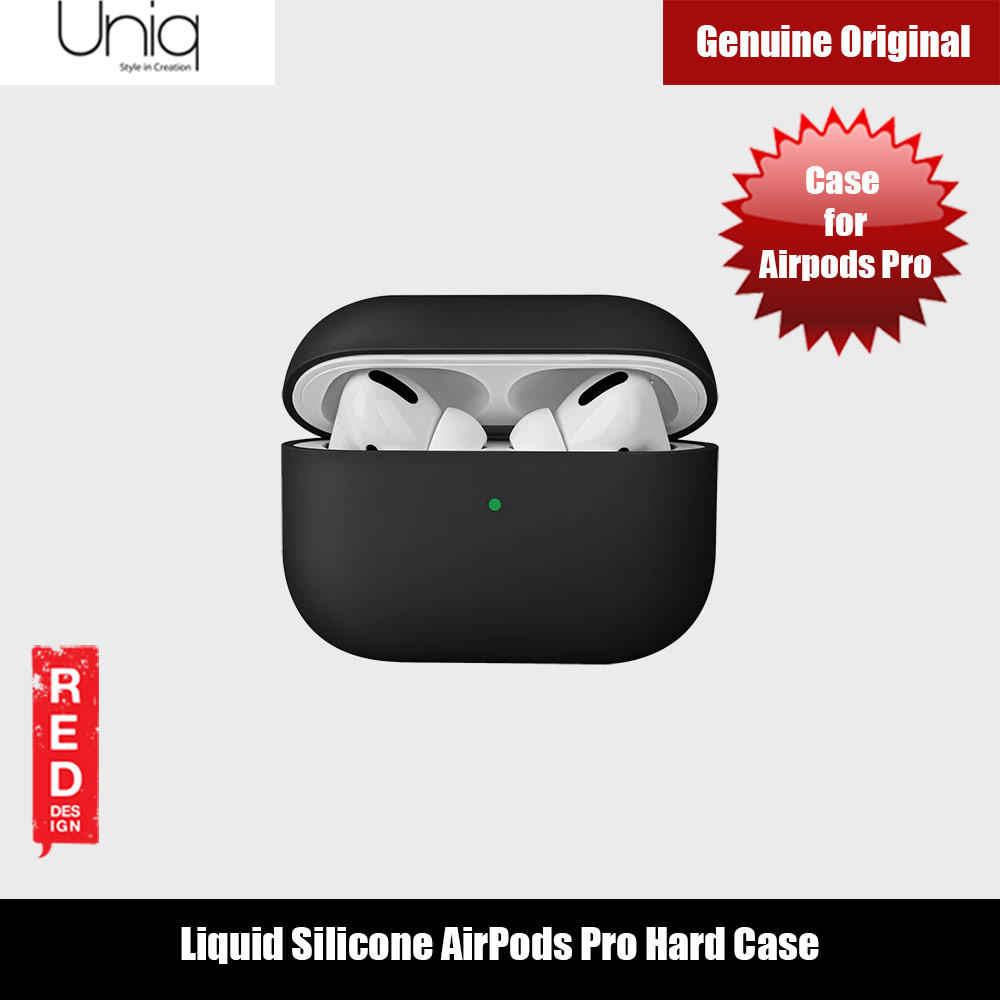 Picture of Uniq Lino Thin Drop Protection Liquid Silicone Hard Case for Airpods Pro (Black) Apple Airpods Pro- Apple Airpods Pro Cases, Apple Airpods Pro Covers, iPad Cases and a wide selection of Apple Airpods Pro Accessories in Malaysia, Sabah, Sarawak and Singapore