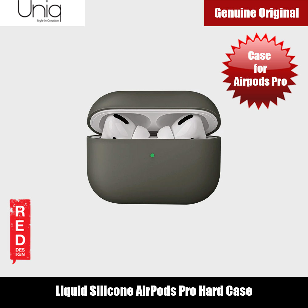 Picture of Uniq Lino Thin Drop Protection Liquid Silicone Hard Case for Airpods Pro (Grey Moss) Apple Airpods Pro- Apple Airpods Pro Cases, Apple Airpods Pro Covers, iPad Cases and a wide selection of Apple Airpods Pro Accessories in Malaysia, Sabah, Sarawak and Singapore