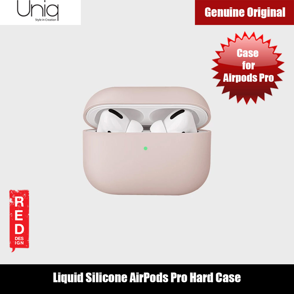 Picture of Uniq Lino Thin Drop Protection Liquid Silicone Hard Case for Airpods Pro (Pink Blush) Apple Airpods Pro- Apple Airpods Pro Cases, Apple Airpods Pro Covers, iPad Cases and a wide selection of Apple Airpods Pro Accessories in Malaysia, Sabah, Sarawak and Singapore