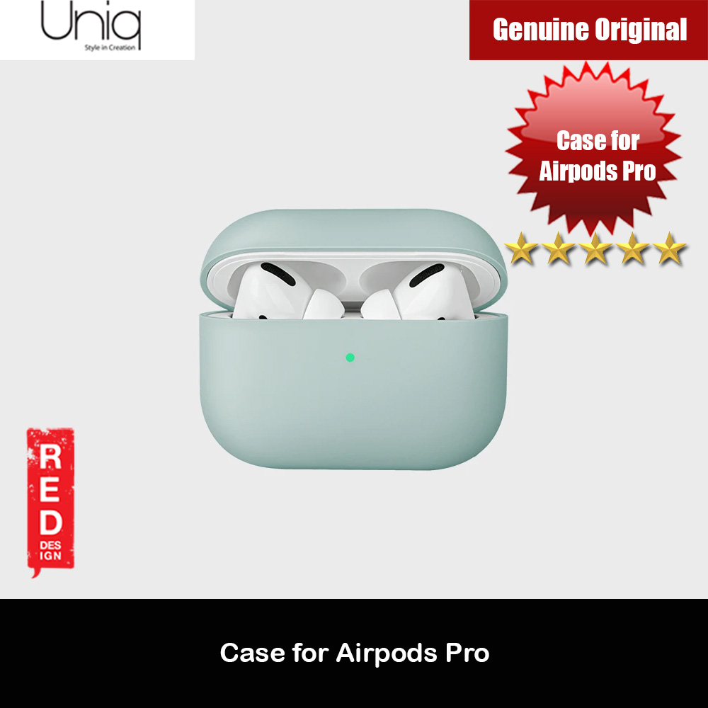 Picture of Uniq Lino Thin Drop Protection Liquid Silicone Hard Case for Airpods Pro (Green) Apple Airpods Pro- Apple Airpods Pro Cases, Apple Airpods Pro Covers, iPad Cases and a wide selection of Apple Airpods Pro Accessories in Malaysia, Sabah, Sarawak and Singapore