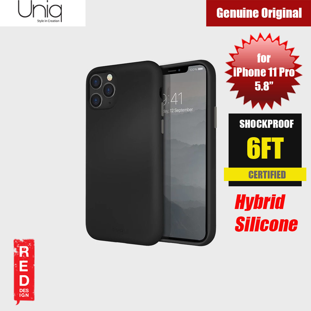 Picture of Uniq Lino Hue Series Premium Liquid Silicone Case for Apple iPhone 11 Pro 5.8  (Black) Apple iPhone 11 Pro 5.8- Apple iPhone 11 Pro 5.8 Cases, Apple iPhone 11 Pro 5.8 Covers, iPad Cases and a wide selection of Apple iPhone 11 Pro 5.8 Accessories in Malaysia, Sabah, Sarawak and Singapore