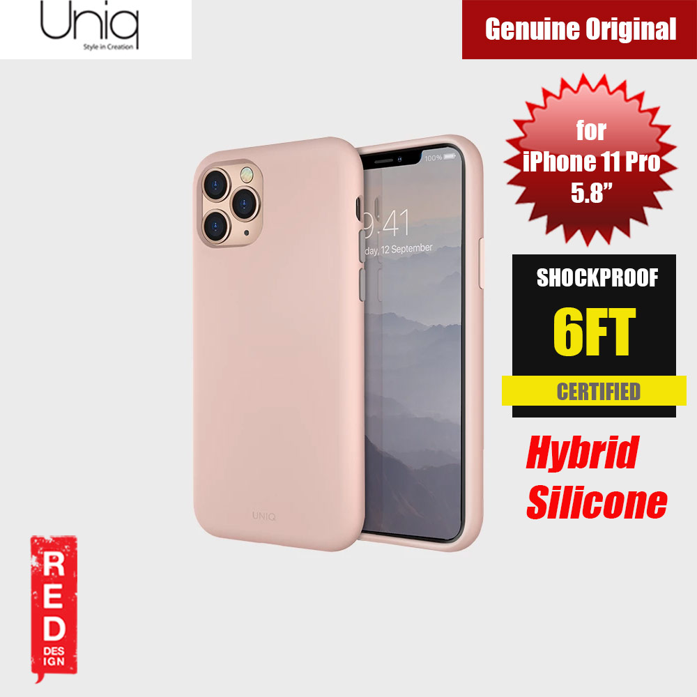 Picture of Uniq Lino Hue Series Premium Liquid Silicone Case for Apple iPhone 11 Pro 5.8  (Blush Pink) Apple iPhone 11 Pro 5.8- Apple iPhone 11 Pro 5.8 Cases, Apple iPhone 11 Pro 5.8 Covers, iPad Cases and a wide selection of Apple iPhone 11 Pro 5.8 Accessories in Malaysia, Sabah, Sarawak and Singapore