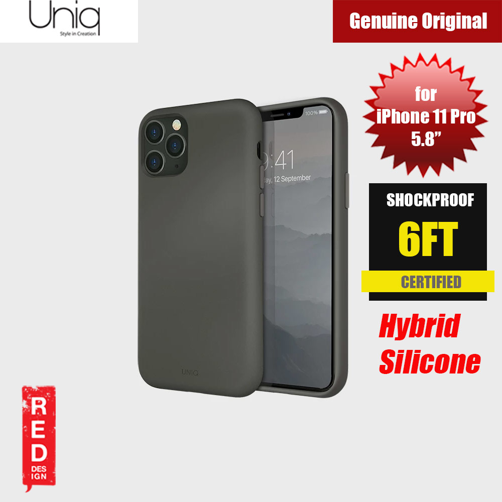 Picture of Uniq Lino Hue Series Premium Liquid Silicone Case for Apple iPhone 11 Pro 5.8  (Moss Grey) Apple iPhone 11 Pro 5.8- Apple iPhone 11 Pro 5.8 Cases, Apple iPhone 11 Pro 5.8 Covers, iPad Cases and a wide selection of Apple iPhone 11 Pro 5.8 Accessories in Malaysia, Sabah, Sarawak and Singapore