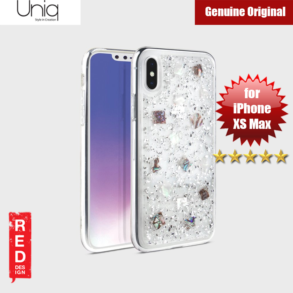Picture of Uniq Lumence Clear Genuine Glitz Seashells Soft Case for Apple iPhone XS Max (Silver) Apple iPhone XS Max- Apple iPhone XS Max Cases, Apple iPhone XS Max Covers, iPad Cases and a wide selection of Apple iPhone XS Max Accessories in Malaysia, Sabah, Sarawak and Singapore