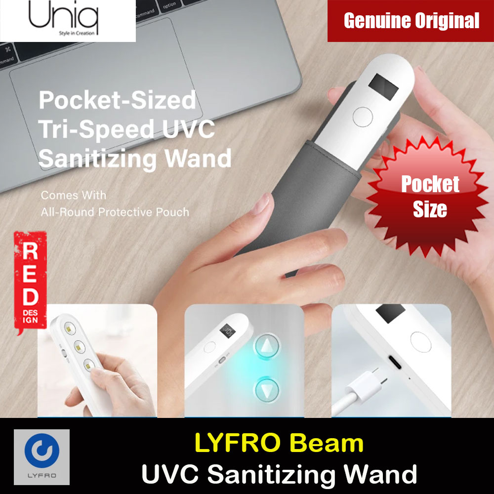Picture of Uniq LYFRO Beam Pocket Sized Handheld UVC LED Wand Sanitizer Wand Sterilizer Wand Red Design- Red Design Cases, Red Design Covers, iPad Cases and a wide selection of Red Design Accessories in Malaysia, Sabah, Sarawak and Singapore