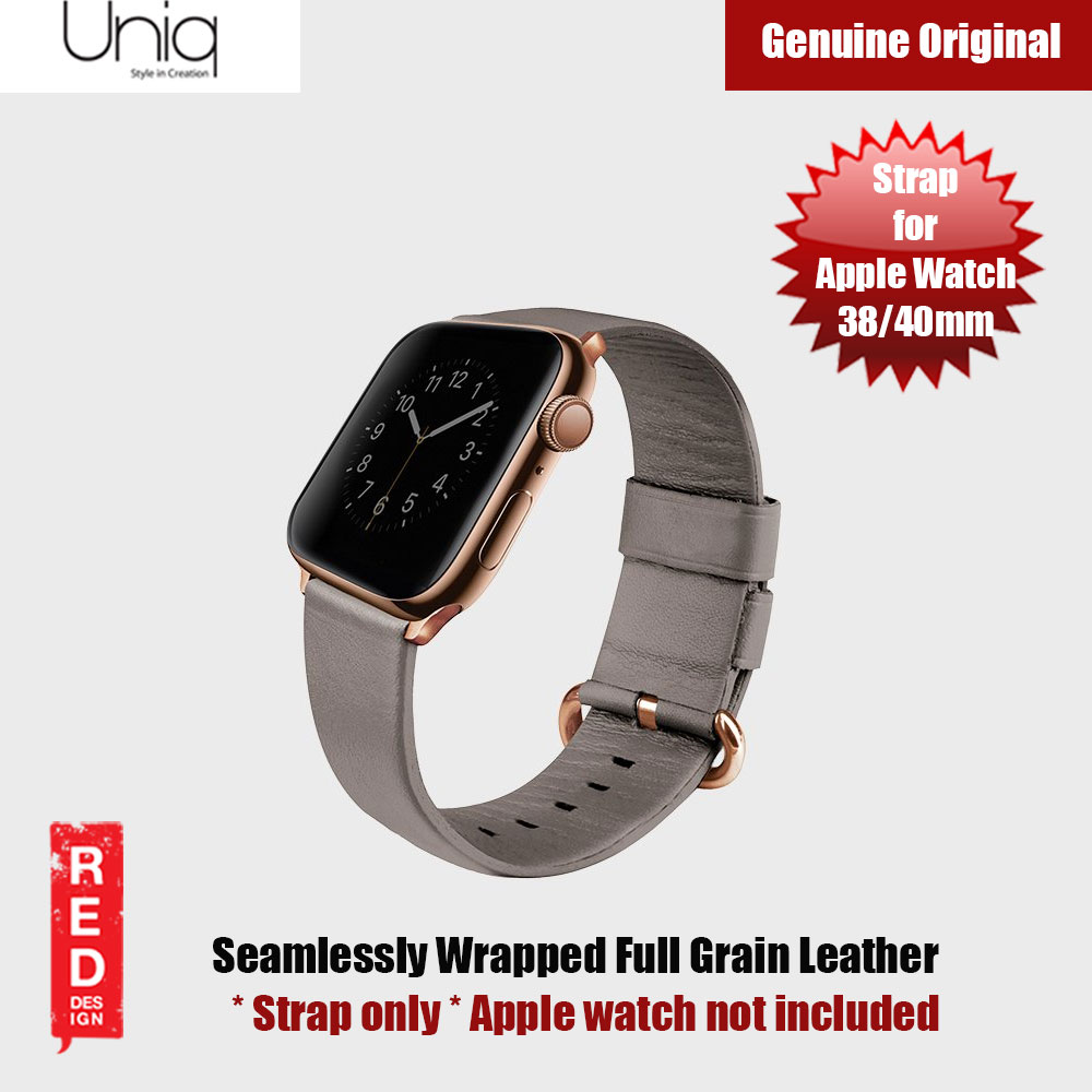 Picture of Uniq Mondain Series Full Grain Leather Strap for Apple Watch 38mm 40mm (Beige) Apple Watch 38mm- Apple Watch 38mm Cases, Apple Watch 38mm Covers, iPad Cases and a wide selection of Apple Watch 38mm Accessories in Malaysia, Sabah, Sarawak and Singapore