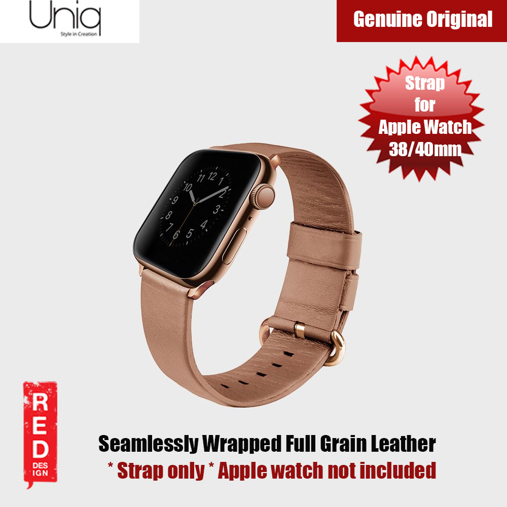 Picture of Uniq Mondain Series Full Grain Leather Strap for Apple Watch 38mm 40mm (Pink) Apple Watch 38mm- Apple Watch 38mm Cases, Apple Watch 38mm Covers, iPad Cases and a wide selection of Apple Watch 38mm Accessories in Malaysia, Sabah, Sarawak and Singapore