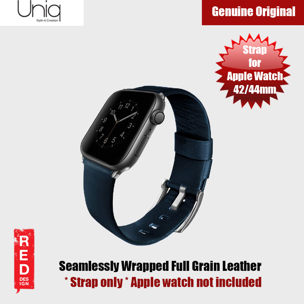 Picture of Uniq Mondain Series Full Grain Leather Strap for Apple Watch 42mm 44mm (blue) Apple Watch 42mm- Apple Watch 42mm Cases, Apple Watch 42mm Covers, iPad Cases and a wide selection of Apple Watch 42mm Accessories in Malaysia, Sabah, Sarawak and Singapore