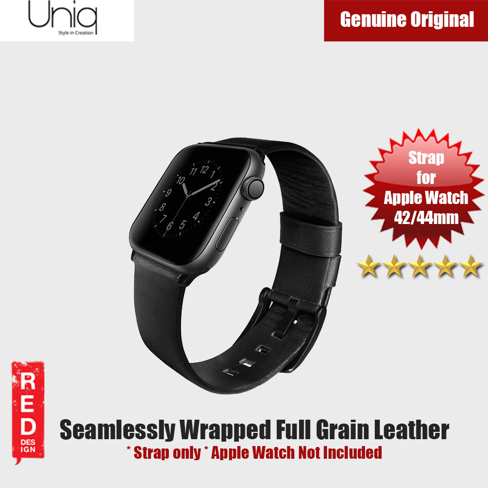 Picture of Uniq Mondain Series Full Grain Leather Strap for Apple Watch 42mm 44mm (Black) Apple Watch 42mm- Apple Watch 42mm Cases, Apple Watch 42mm Covers, iPad Cases and a wide selection of Apple Watch 42mm Accessories in Malaysia, Sabah, Sarawak and Singapore