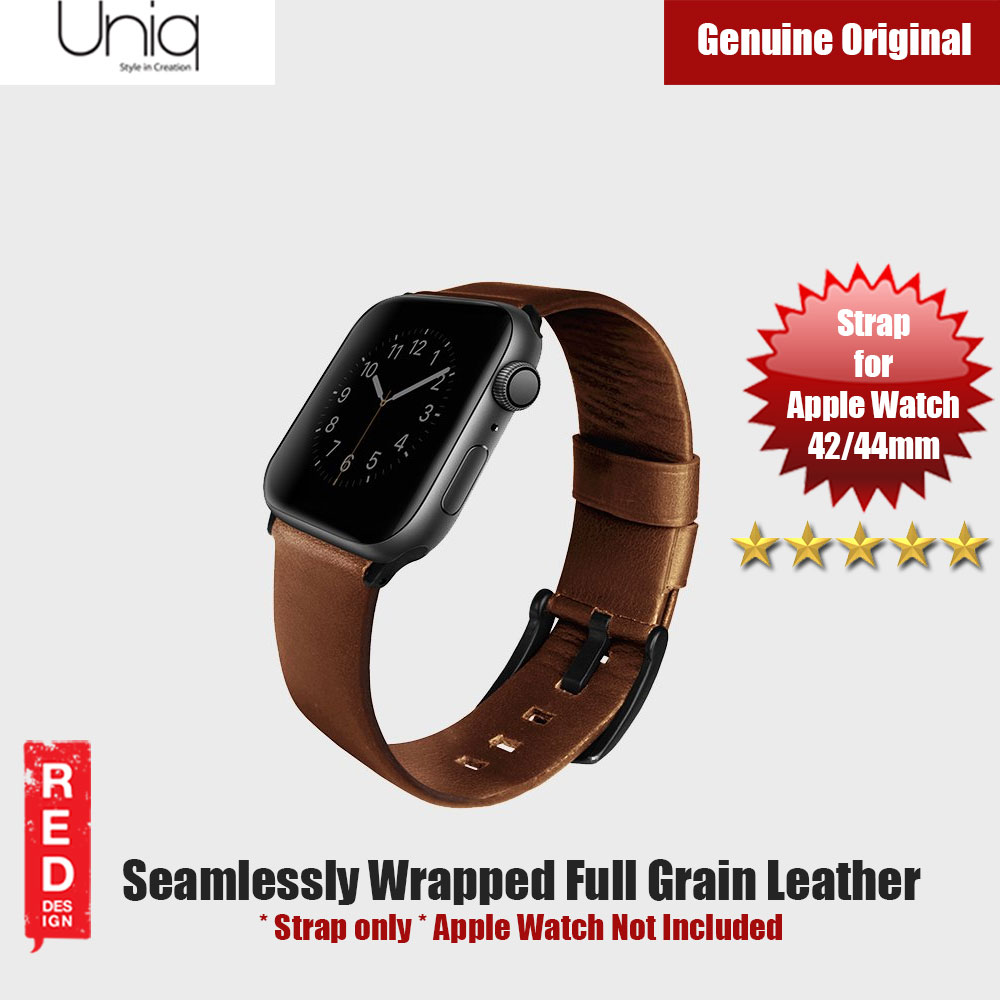 Picture of Uniq Mondain Series Full Grain Leather Strap for Apple Watch 42mm 44mm (Brown) Apple Watch 42mm- Apple Watch 42mm Cases, Apple Watch 42mm Covers, iPad Cases and a wide selection of Apple Watch 42mm Accessories in Malaysia, Sabah, Sarawak and Singapore