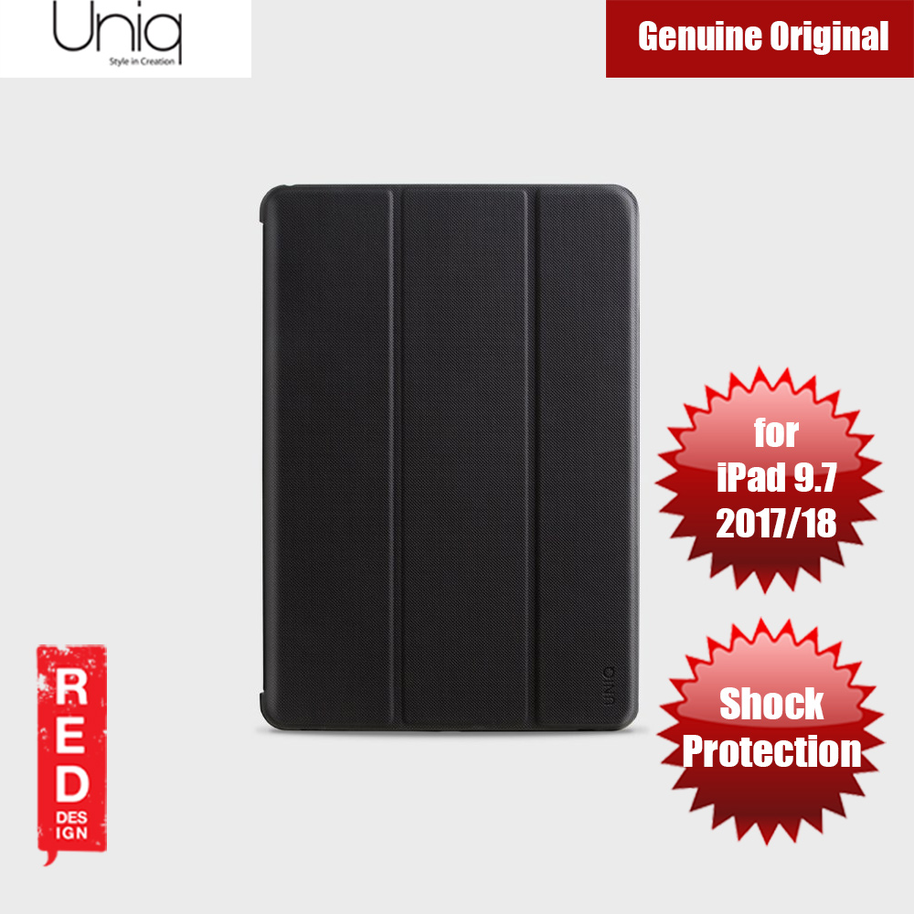 Picture of Uniq Rigor Anti Shock Impact Protection Case with Stylus Holder for Apple iPad 9.7 2017 2018 (Black) Apple iPad 9.7 2018- Apple iPad 9.7 2018 Cases, Apple iPad 9.7 2018 Covers, iPad Cases and a wide selection of Apple iPad 9.7 2018 Accessories in Malaysia, Sabah, Sarawak and Singapore
