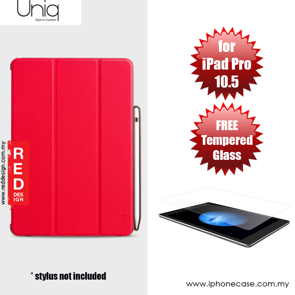Picture of Apple iPad Pro 10.5 2017 Case | Uniq Rigor Anti Shock Impact Protection Case with Stylus Holder for Apple iPad Pro 10.5 2017 (Red)