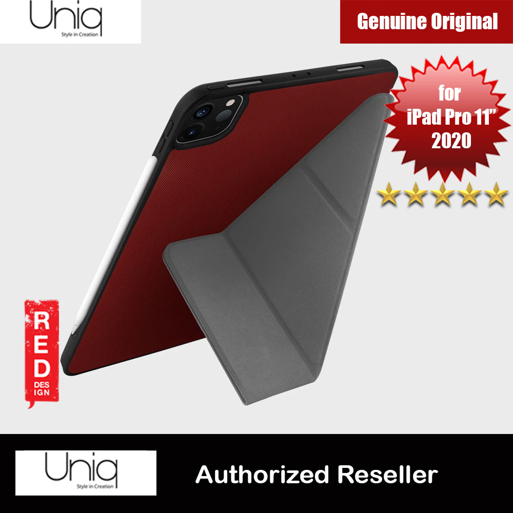 Picture of Uniq Transforma Rigor Protection Flip and Standable Case for Apple iPad Pro 11 2nd 2020 (Red) Apple iPad Pro 11 2nd gen 2020- Apple iPad Pro 11 2nd gen 2020 Cases, Apple iPad Pro 11 2nd gen 2020 Covers, iPad Cases and a wide selection of Apple iPad Pro 11 2nd gen 2020 Accessories in Malaysia, Sabah, Sarawak and Singapore