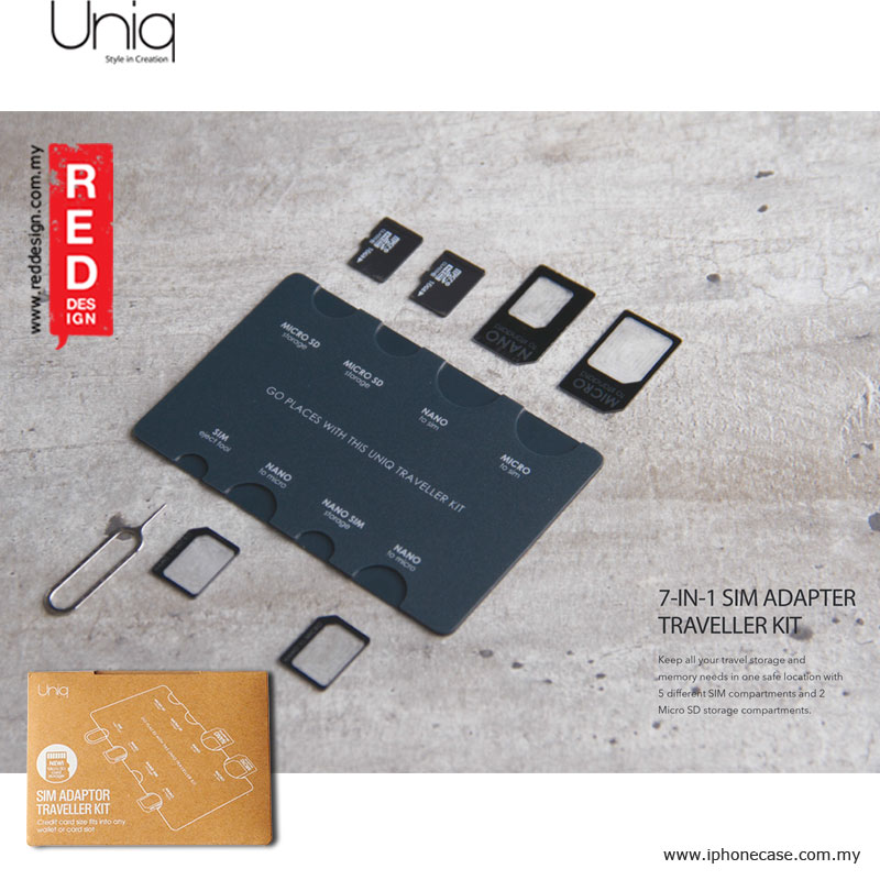 Picture of Uniq Sim Adaptor Traveller Kit Nano to Micro Sim Micro to Sim Red Design- Red Design Cases, Red Design Covers, iPad Cases and a wide selection of Red Design Accessories in Malaysia, Sabah, Sarawak and Singapore