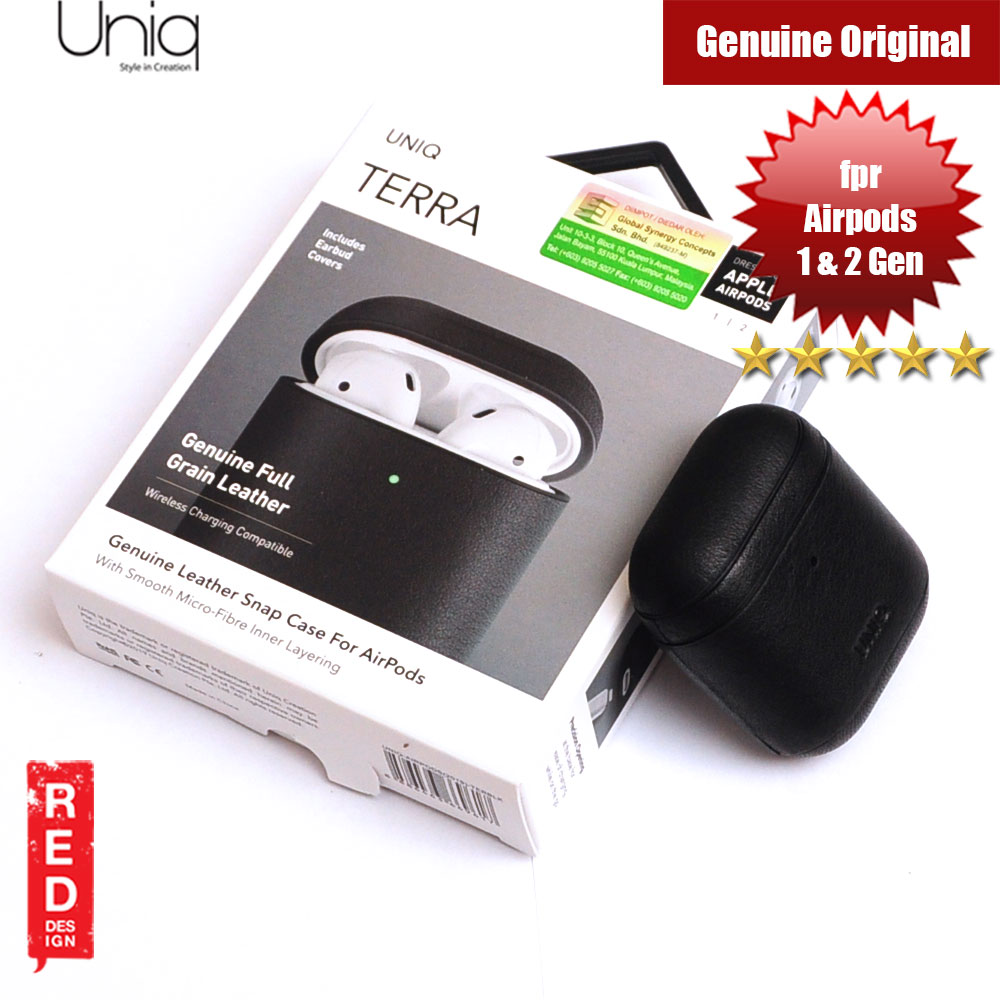 Picture of Uniq Terra Airpod Genuine Leather Snap Case for Airpods 1 Airpods 2 (Black) Apple Airpods 2- Apple Airpods 2 Cases, Apple Airpods 2 Covers, iPad Cases and a wide selection of Apple Airpods 2 Accessories in Malaysia, Sabah, Sarawak and Singapore