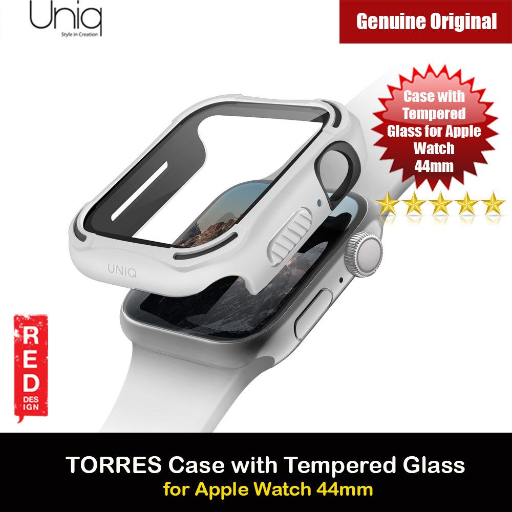 Picture of Uniq Torres Ultra Tough Hybrid Series Case with High Sensitivity Touch 9H Tempered Glass for Apple Watch 44mm (White) Apple Watch 44mm- Apple Watch 44mm Cases, Apple Watch 44mm Covers, iPad Cases and a wide selection of Apple Watch 44mm Accessories in Malaysia, Sabah, Sarawak and Singapore