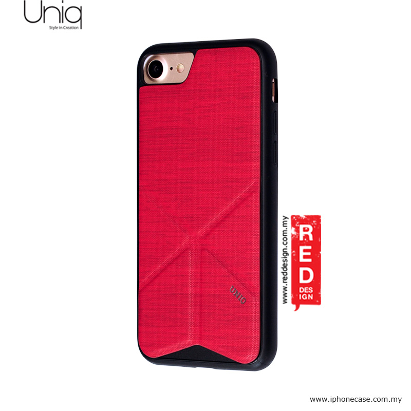 new concept 2a4a0 fdb67 Uniq Transforma Ligne Stand Case for Apple iPhone 7 iPhone 8 4.7 - Red