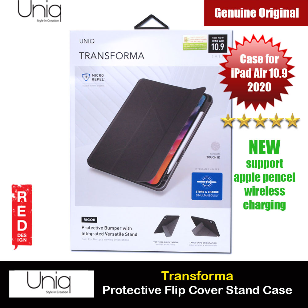 Picture of Uniq Transforma Rigor Protection Flip and Standable Case for Apple iPad Air 10.9 2020 (Grey) Apple iPad Air 10.9 2020- Apple iPad Air 10.9 2020 Cases, Apple iPad Air 10.9 2020 Covers, iPad Cases and a wide selection of Apple iPad Air 10.9 2020 Accessories in Malaysia, Sabah, Sarawak and Singapore