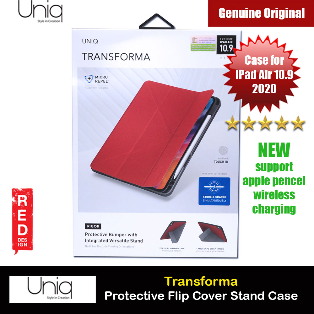 Picture of Uniq Transforma Rigor Protection Flip and Standable Case for Apple iPad Air 10.9 2020 (Red) Apple iPad Air 10.9 2020- Apple iPad Air 10.9 2020 Cases, Apple iPad Air 10.9 2020 Covers, iPad Cases and a wide selection of Apple iPad Air 10.9 2020 Accessories in Malaysia, Sabah, Sarawak and Singapore