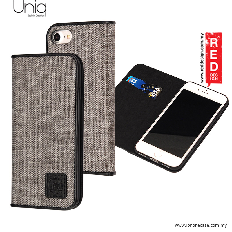 Picture of Uniq Trilby Canvas Fabric Flip Cover Stand Case for Apple iPhone 7 iPhone 8 4.7 - Black Apple iPhone 8- Apple iPhone 8 Cases, Apple iPhone 8 Covers, iPad Cases and a wide selection of Apple iPhone 8 Accessories in Malaysia, Sabah, Sarawak and Singapore