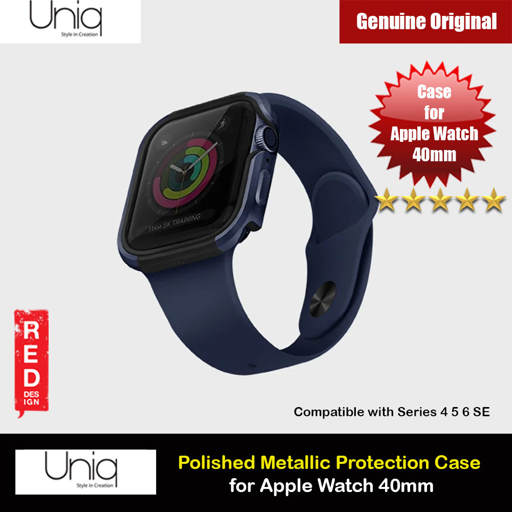 Picture of Uniq Valencia Series Reinforced Aluminium Defense Case for Apple Watch Series 4 5 6 SE Nike 40mm (Blue) Apple Watch 40mm- Apple Watch 40mm Cases, Apple Watch 40mm Covers, iPad Cases and a wide selection of Apple Watch 40mm Accessories in Malaysia, Sabah, Sarawak and Singapore
