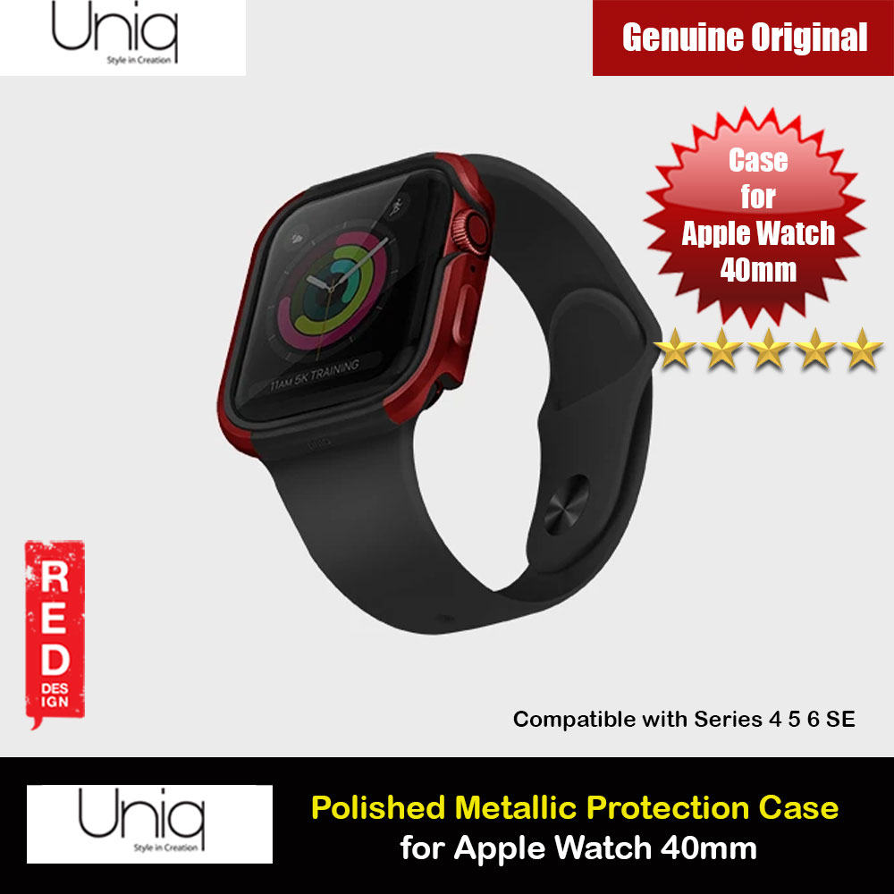 Picture of Uniq Valencia Series Reinforced Aluminium Defense Case for Apple Watch Series 4 5 6 SE Nike 40mm (Red) Apple Watch 40mm- Apple Watch 40mm Cases, Apple Watch 40mm Covers, iPad Cases and a wide selection of Apple Watch 40mm Accessories in Malaysia, Sabah, Sarawak and Singapore