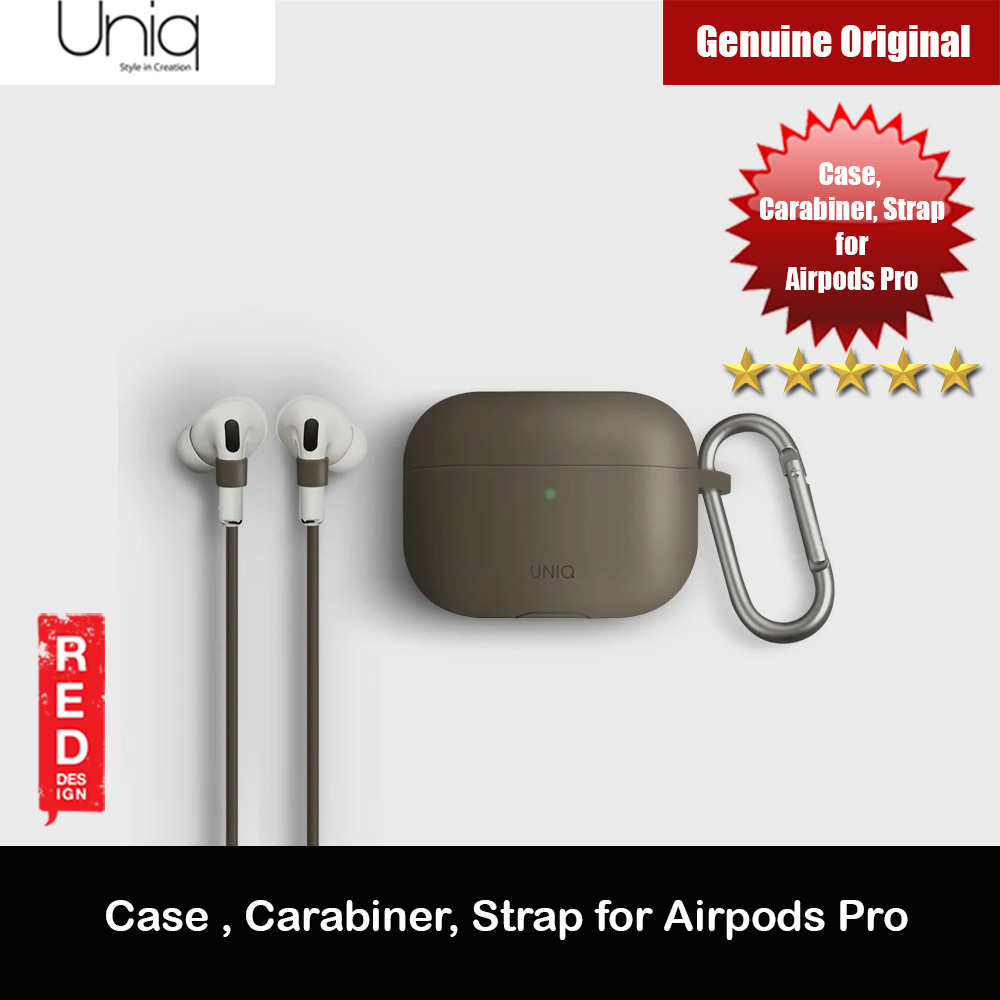 Picture of Uniq Vencer Drop Protection Liquid Silicone Soft Case with Aluminium Carabiner and Strap for Airpods Pro (Beige) Apple Airpods Pro- Apple Airpods Pro Cases, Apple Airpods Pro Covers, iPad Cases and a wide selection of Apple Airpods Pro Accessories in Malaysia, Sabah, Sarawak and Singapore
