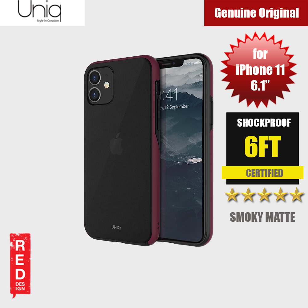 Picture of Uniq Vesto Hue Ultra Drop Protection Premium Hybrid Matte Surface Lightweight Back Case for Apple iPhone 11 6.1 (Maroon) Apple iPhone 11 6.1- Apple iPhone 11 6.1 Cases, Apple iPhone 11 6.1 Covers, iPad Cases and a wide selection of Apple iPhone 11 6.1 Accessories in Malaysia, Sabah, Sarawak and Singapore