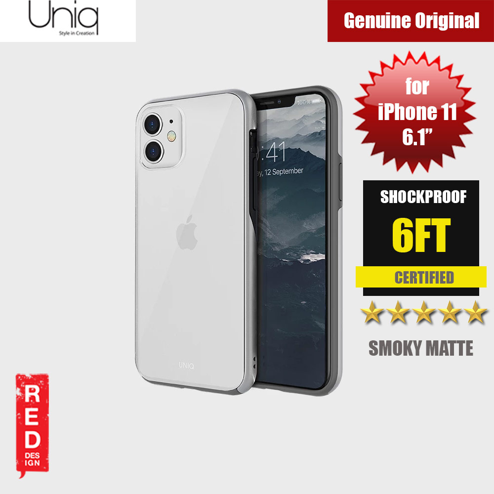 Picture of Uniq Vesto Hue Ultra Drop Protection Premium Hybrid Matte Surface Lightweight Back Case for Apple iPhone 11 6.1 (Silver) Apple iPhone 11 6.1- Apple iPhone 11 6.1 Cases, Apple iPhone 11 6.1 Covers, iPad Cases and a wide selection of Apple iPhone 11 6.1 Accessories in Malaysia, Sabah, Sarawak and Singapore