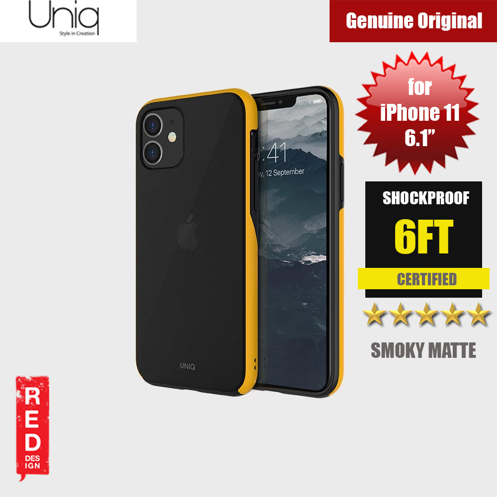 Picture of Uniq Vesto Hue Ultra Drop Protection Premium Hybrid Matte Surface Lightweight Back Case for Apple iPhone 11 6.1 (Yellow) Apple iPhone 11 6.1- Apple iPhone 11 6.1 Cases, Apple iPhone 11 6.1 Covers, iPad Cases and a wide selection of Apple iPhone 11 6.1 Accessories in Malaysia, Sabah, Sarawak and Singapore