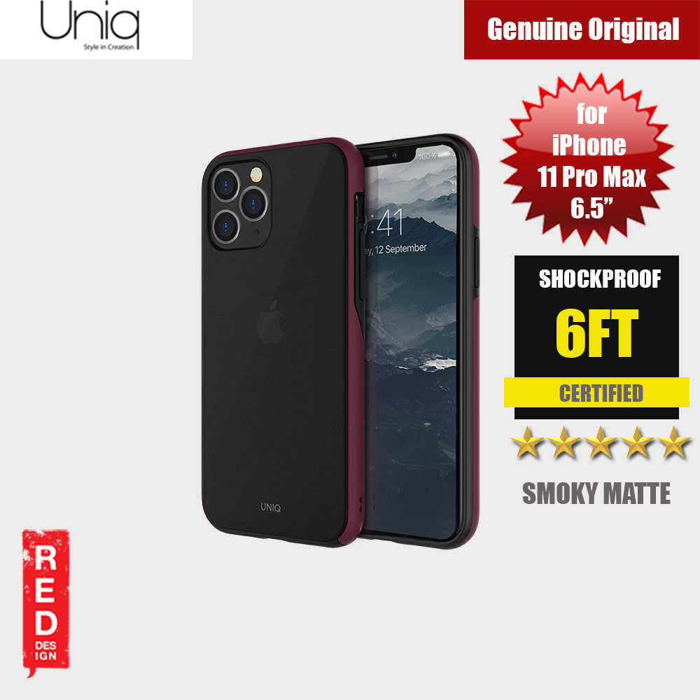 Picture of Uniq Vesto Hue Ultra Drop Protection Premium Hybrid Matte Surface Lightweight Back Case for Apple iPhone 11 Pro Max 6.5 (Maroon) Apple iPhone 11 Pro Max 6.5- Apple iPhone 11 Pro Max 6.5 Cases, Apple iPhone 11 Pro Max 6.5 Covers, iPad Cases and a wide selection of Apple iPhone 11 Pro Max 6.5 Accessories in Malaysia, Sabah, Sarawak and Singapore