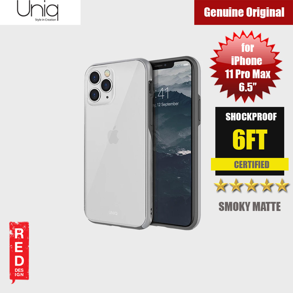 Picture of Uniq Vesto Hue Ultra Drop Protection Premium Hybrid Matte Surface Lightweight Back Case for Apple iPhone 11 Pro Max 6.5 (Silver) Apple iPhone 11 Pro Max 6.5- Apple iPhone 11 Pro Max 6.5 Cases, Apple iPhone 11 Pro Max 6.5 Covers, iPad Cases and a wide selection of Apple iPhone 11 Pro Max 6.5 Accessories in Malaysia, Sabah, Sarawak and Singapore