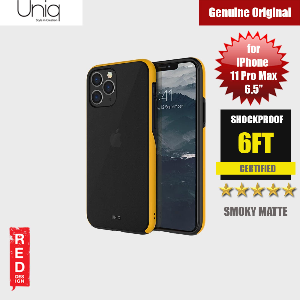 Picture of Uniq Vesto Hue Ultra Drop Protection Premium Hybrid Matte Surface Lightweight Back Case for Apple iPhone 11 Pro Max 6.5 (Yellow) Apple iPhone 11 Pro Max 6.5- Apple iPhone 11 Pro Max 6.5 Cases, Apple iPhone 11 Pro Max 6.5 Covers, iPad Cases and a wide selection of Apple iPhone 11 Pro Max 6.5 Accessories in Malaysia, Sabah, Sarawak and Singapore