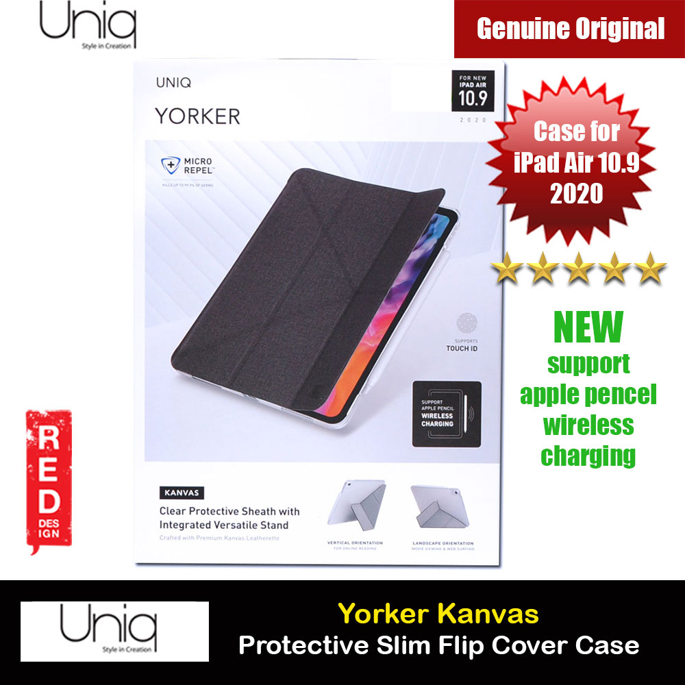"Picture of Uniq Yorker Kanvas Protection Flip and Standable Case for Apple iPad Air 10.9"" 2020 (Black) Apple iPad Air 10.9 2020- Apple iPad Air 10.9 2020 Cases, Apple iPad Air 10.9 2020 Covers, iPad Cases and a wide selection of Apple iPad Air 10.9 2020 Accessories in Malaysia, Sabah, Sarawak and Singapore"
