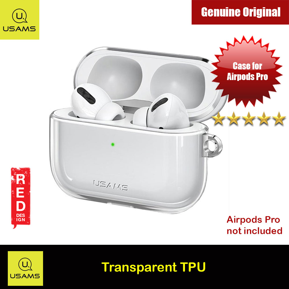 Picture of USAMS Thin Drop Protection TPU Soft Transparent Case for Airpods Pro with removable Hook (Clear) Apple Airpods Pro- Apple Airpods Pro Cases, Apple Airpods Pro Covers, iPad Cases and a wide selection of Apple Airpods Pro Accessories in Malaysia, Sabah, Sarawak and Singapore