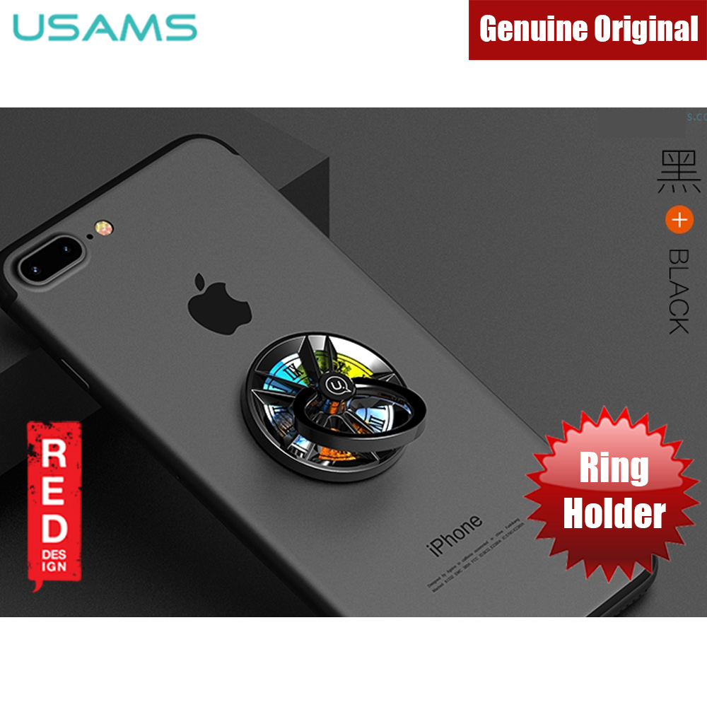 Picture of USAMS Gyro Ring Holder 360 Degree Rotatable Ring Holder for Mobile Phones (Black) Red Design- Red Design Cases, Red Design Covers, iPad Cases and a wide selection of Red Design Accessories in Malaysia, Sabah, Sarawak and Singapore
