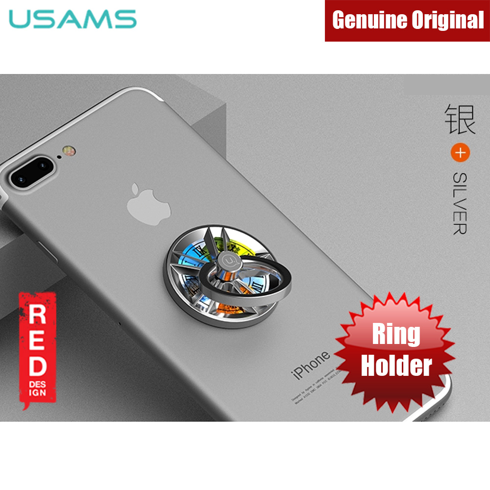 Picture of USAMS Gyro Ring Holder 360 Degree Rotatable Ring Holder for Mobile Phones (Silver) Red Design- Red Design Cases, Red Design Covers, iPad Cases and a wide selection of Red Design Accessories in Malaysia, Sabah, Sarawak and Singapore