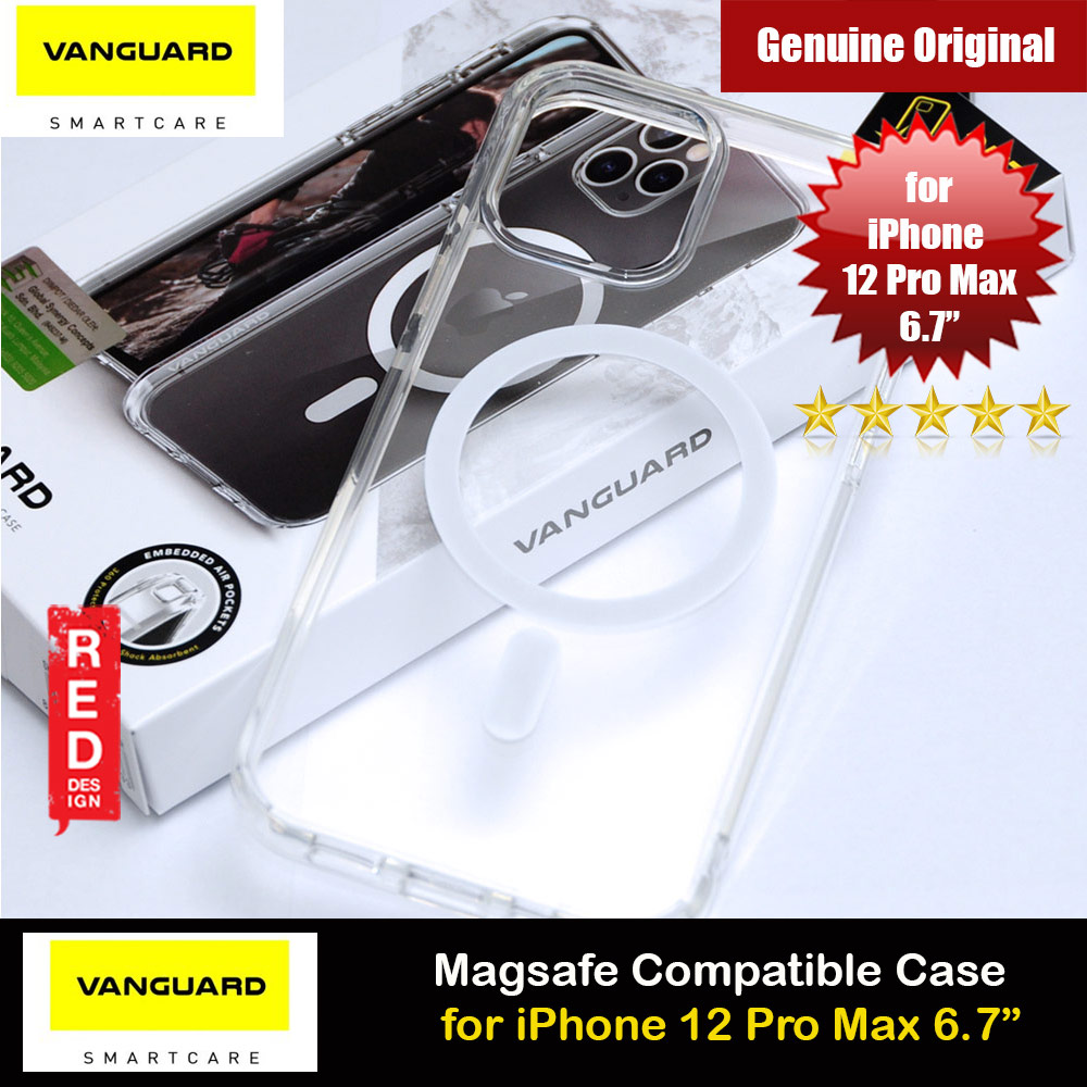 Picture of Viva Madrid Vanguard Halo Magsafe Compatible Clear Drop Protection Case for iPhone 12 Pro Max 6.7 (Clear) Apple iPhone 12 Pro Max 6.7- Apple iPhone 12 Pro Max 6.7 Cases, Apple iPhone 12 Pro Max 6.7 Covers, iPad Cases and a wide selection of Apple iPhone 12 Pro Max 6.7 Accessories in Malaysia, Sabah, Sarawak and Singapore