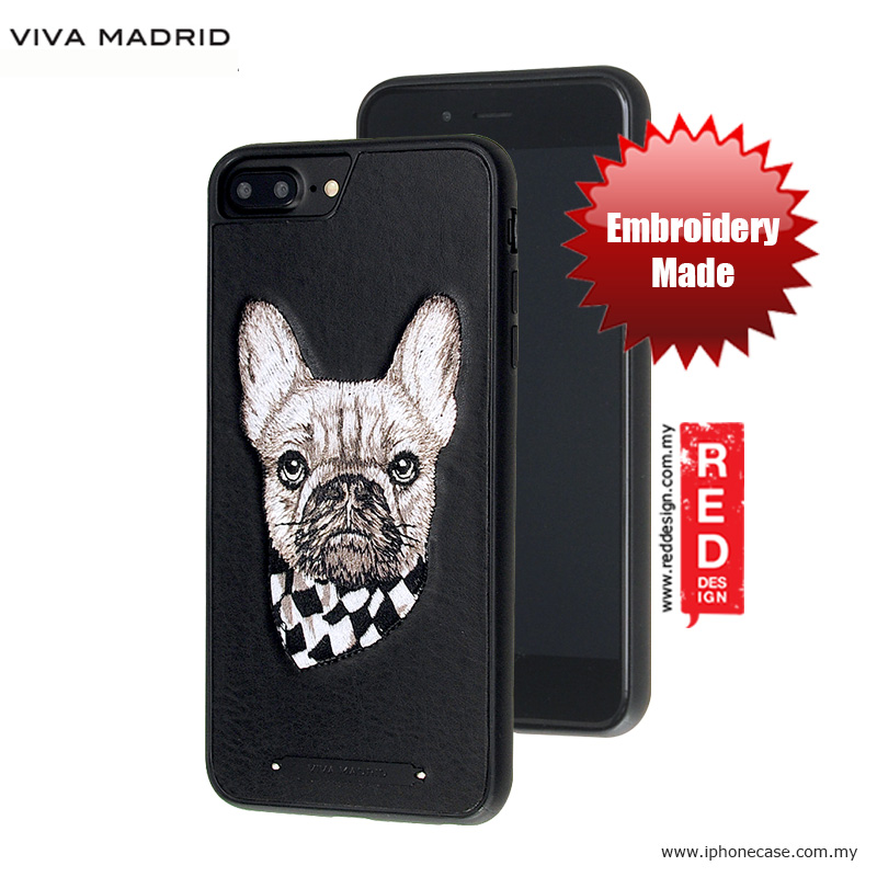 Picture of Apple iPhone 8 Plus Case | Viva Madrid  Embroidery Fashion Artwork Back Case for Apple iPhone 6S Plus 5.5 iPhone 7 Plus iPhone 8 Plus 5.5 - Pug Life