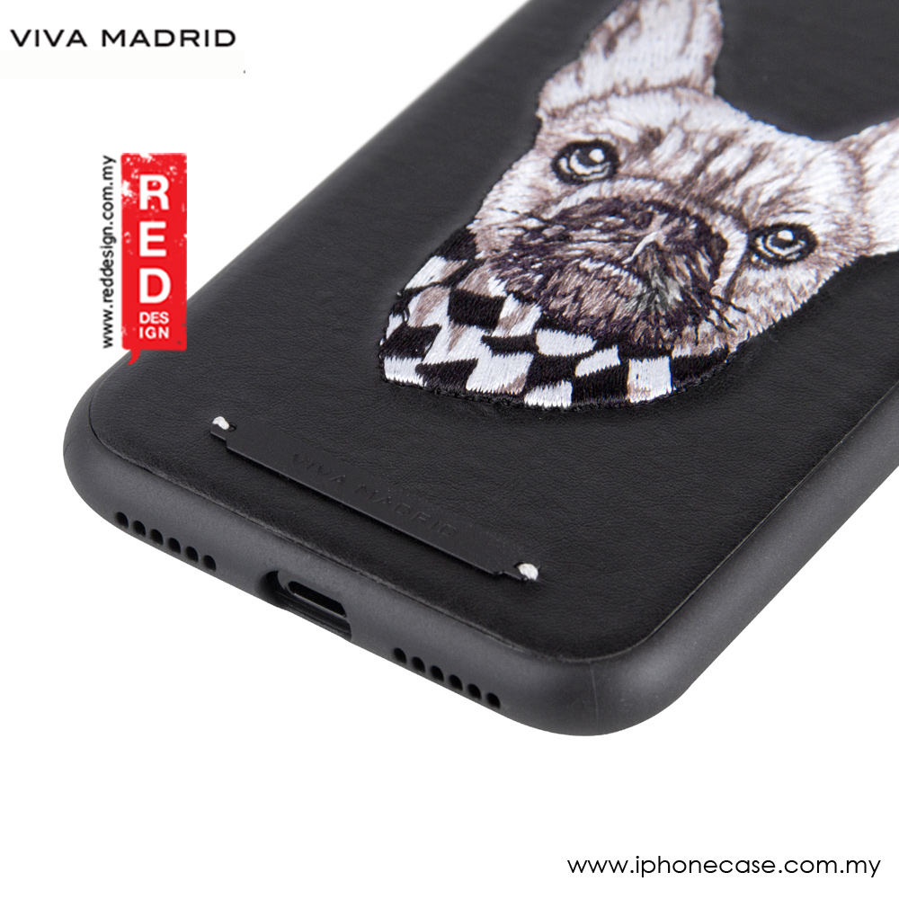 Picture of Apple iPhone X Case | Viva Madrid Embroidery Fashion Artwork Back Case for Apple iPhone X (Pug Life)
