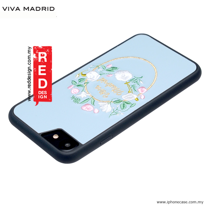 Picture of Apple iPhone 8 Case | Viva Madrid Fleur Synthetic Leather with Embrodery Case for Apple iPhone 7 iPhone 8 4.7 iPhone 6S 4.7 - Blue