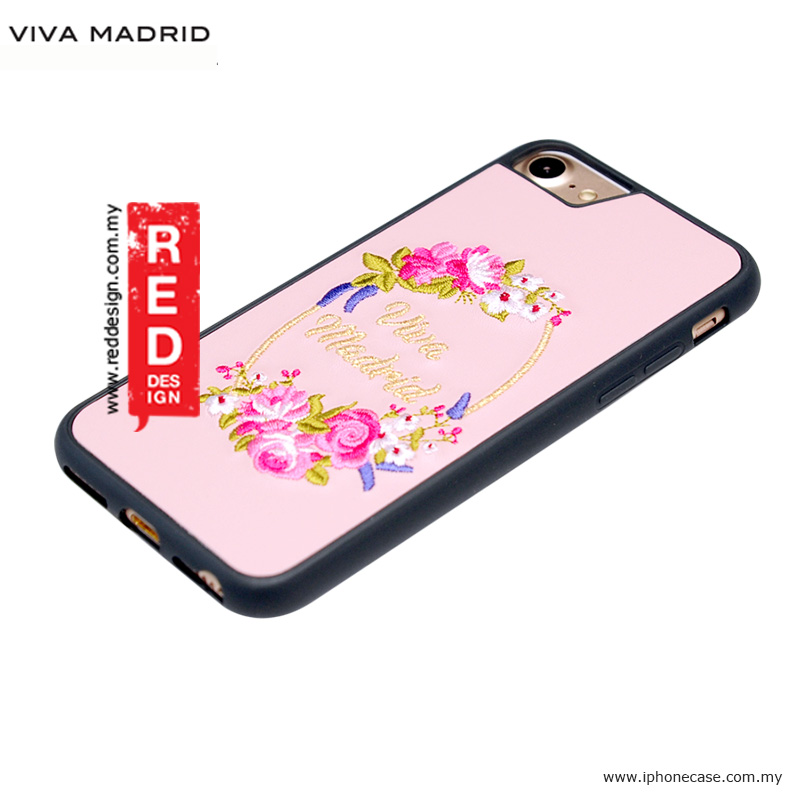 Picture of Apple iPhone 8 Case | Viva Madrid Fleur Synthetic Leather with Embrodery Case for Apple iPhone 7 iPhone 8 4.7 iPhone 6S 4.7 - Pink