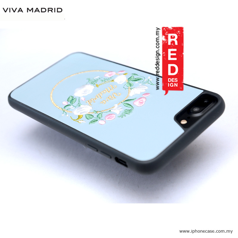 Picture of Apple iPhone 8 Plus Case | Viva Madrid Fleur Synthetic Leather with Embrodery Case for Apple iPhone 7 Plus iPhone 8 Plus 5.5 iPhone 6S Plus 5.5 - Blue