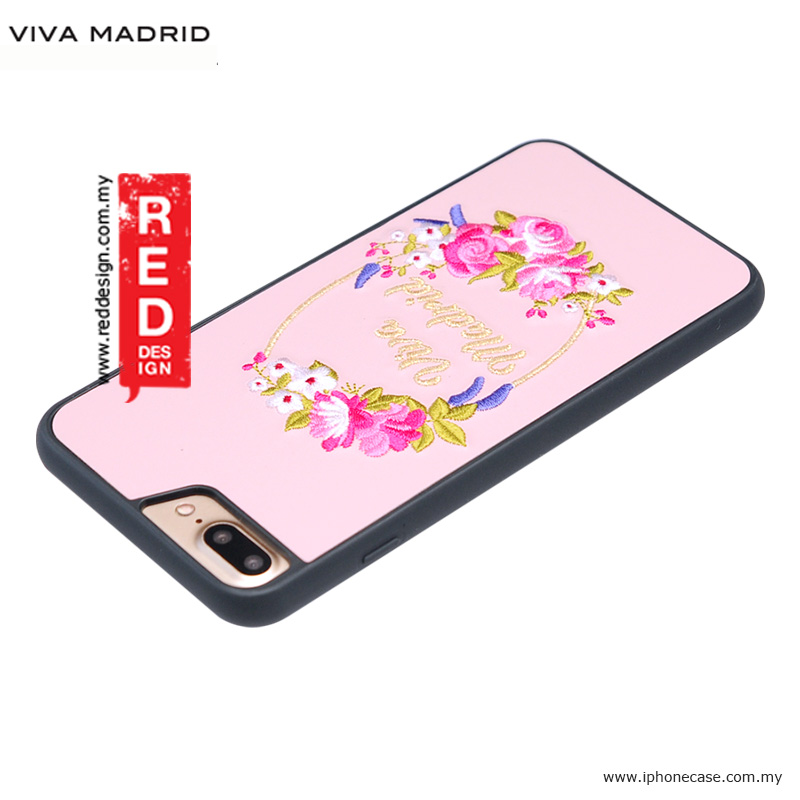 Picture of Apple iPhone 8 Plus Case | Viva Madrid Fleur Synthetic Leather with Embrodery Case for Apple iPhone 7 Plus iPhone 8 Plus 5.5 iPhone 6S Plus 5.5 - Pink