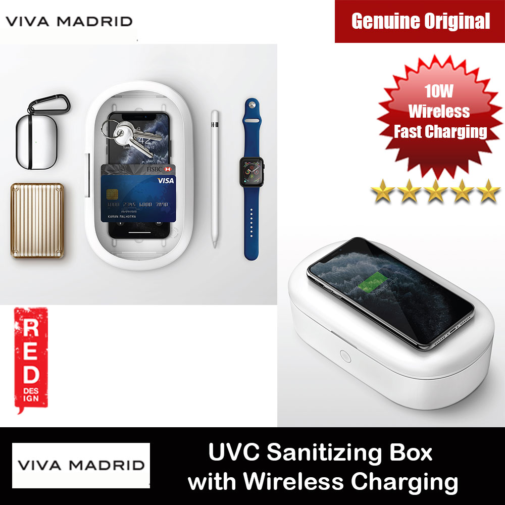 Picture of Viva Madrid Vanguard Smartcase Vault Pro UVC Sanitizing Box with Wireless Charging All in One Stera Multifunction UV Light Sanitizer Box Kill bacteria with 10W Fast Wireless Charging for Smartphone Smartwatch Airpods Mask Cosmetics Red Design- Red Design Cases, Red Design Covers, iPad Cases and a wide selection of Red Design Accessories in Malaysia, Sabah, Sarawak and Singapore