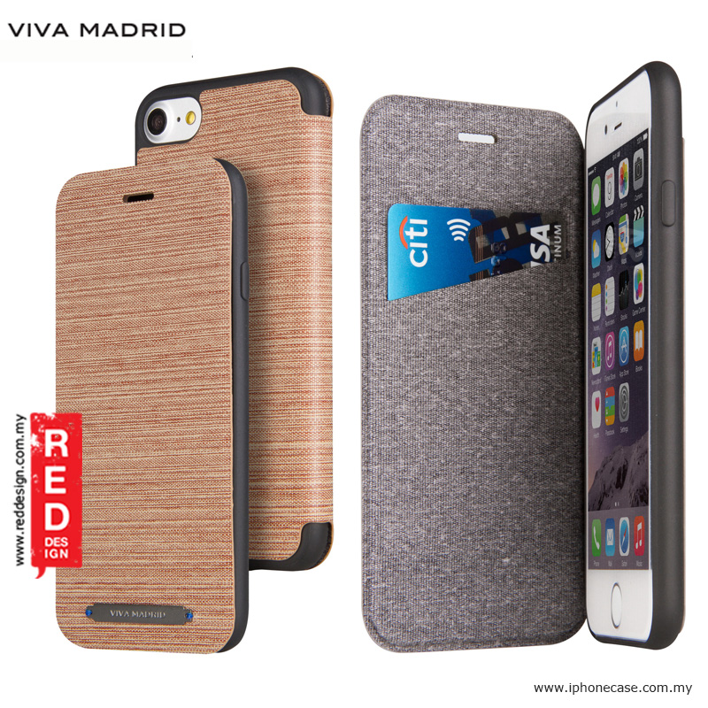 Picture of Apple iPhone 8 Case | Viva Madrid Atleta Flip Cover Case for Apple iPhone 7 iPhone 8 4.7 - Brown