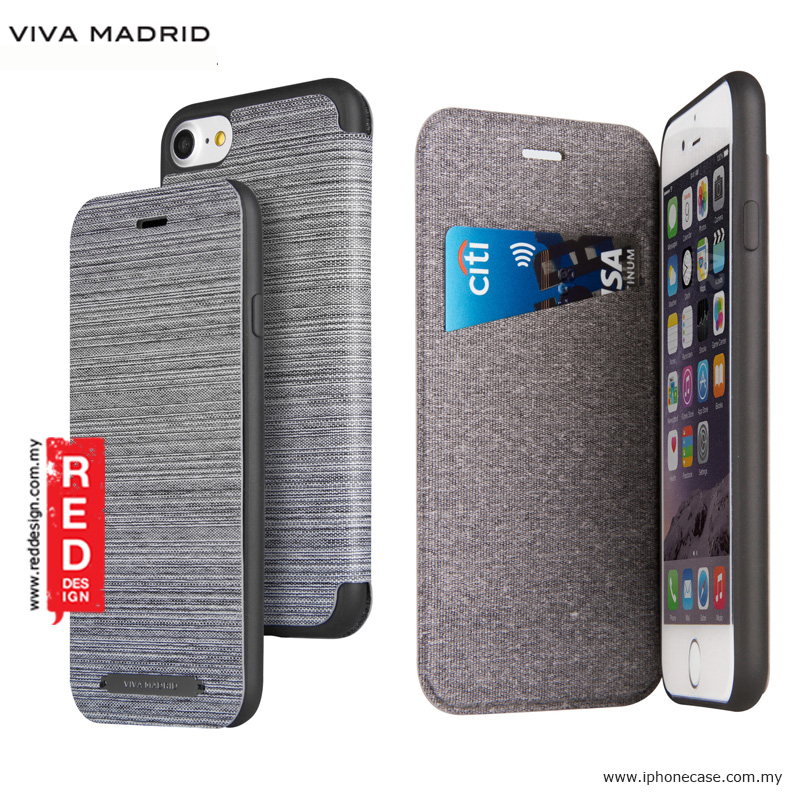 Picture of Apple iPhone 8 Case | Viva Madrid Atleta Flip Cover Case for Apple iPhone 7 iPhone 8 4.7 - Grey