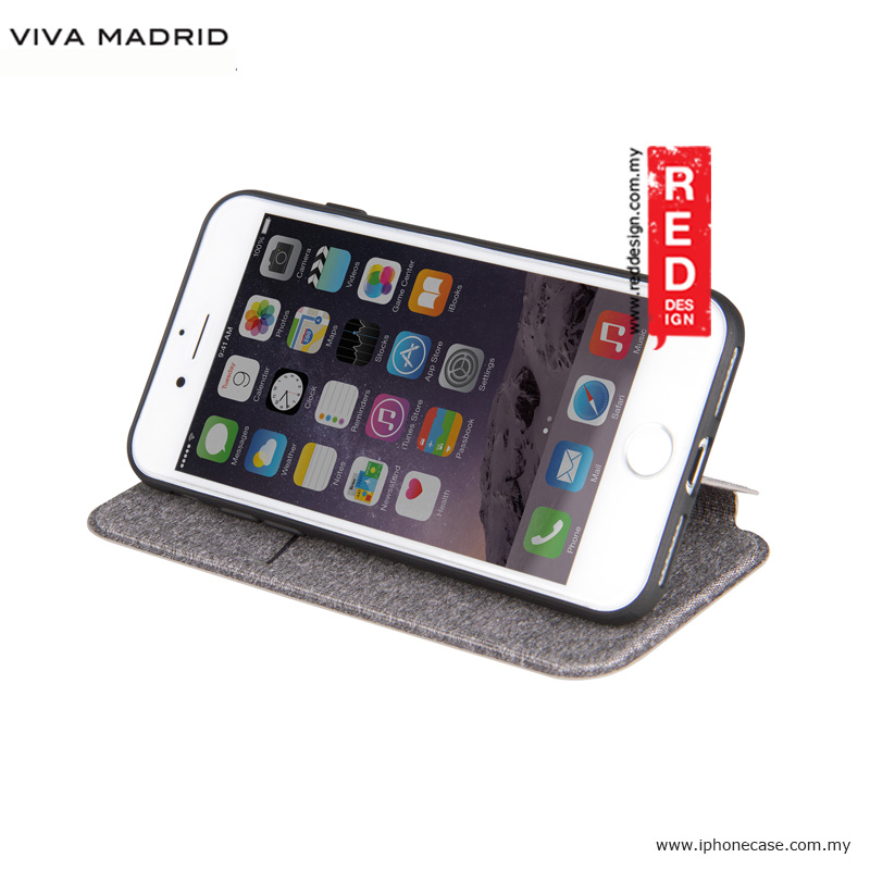 Picture of Apple iPhone 8 Case | Viva Madrid Atleta Flip Cover Case for Apple iPhone 7 iPhone 8 4.7 - White